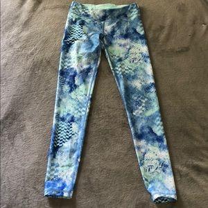 Girls blue/green/white ivivva size 10 leggings !!!